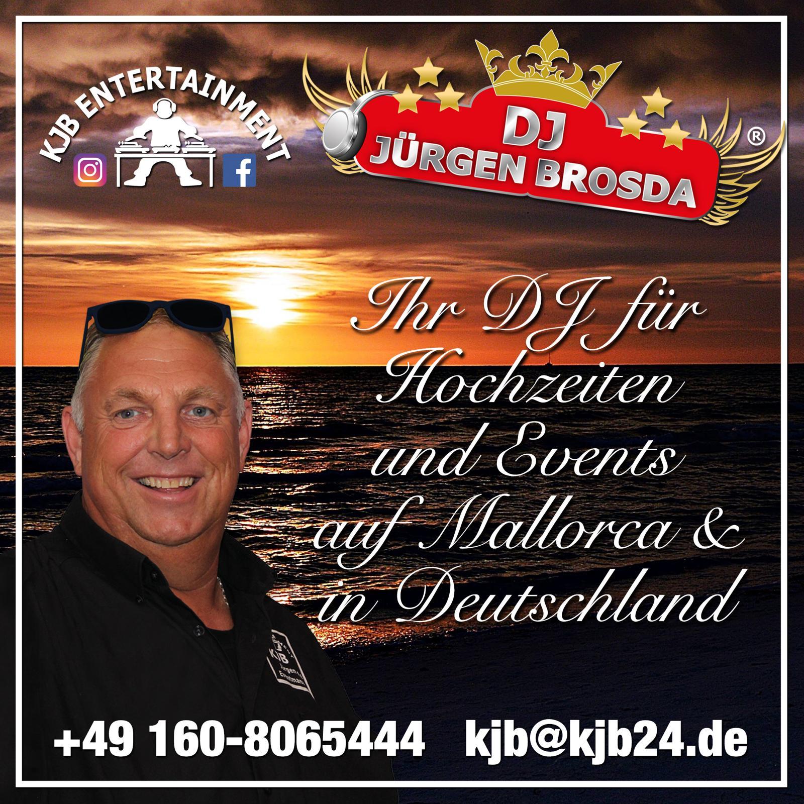 DJ Jürgen Brosda - DJ für Hochzeit, Party und Event in Deutschland und auf Mallorca